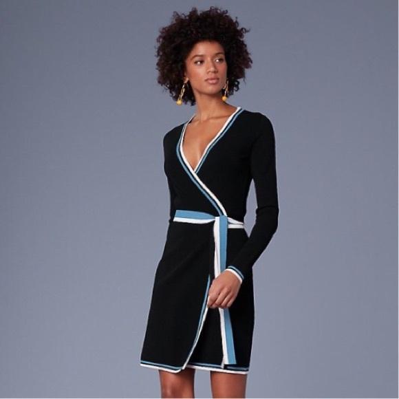 2ceb841bba8 aso TV DVF ☾Wrap Sweater Dress ☾Laguna Multi